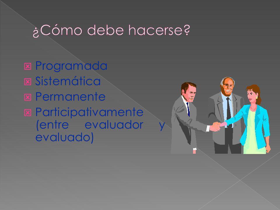 ¿Cómo debe hacerse Programada Sistemática Permanente