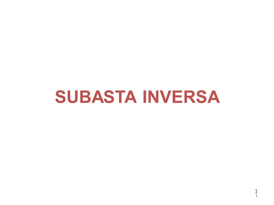 SUBASTA INVERSA 1