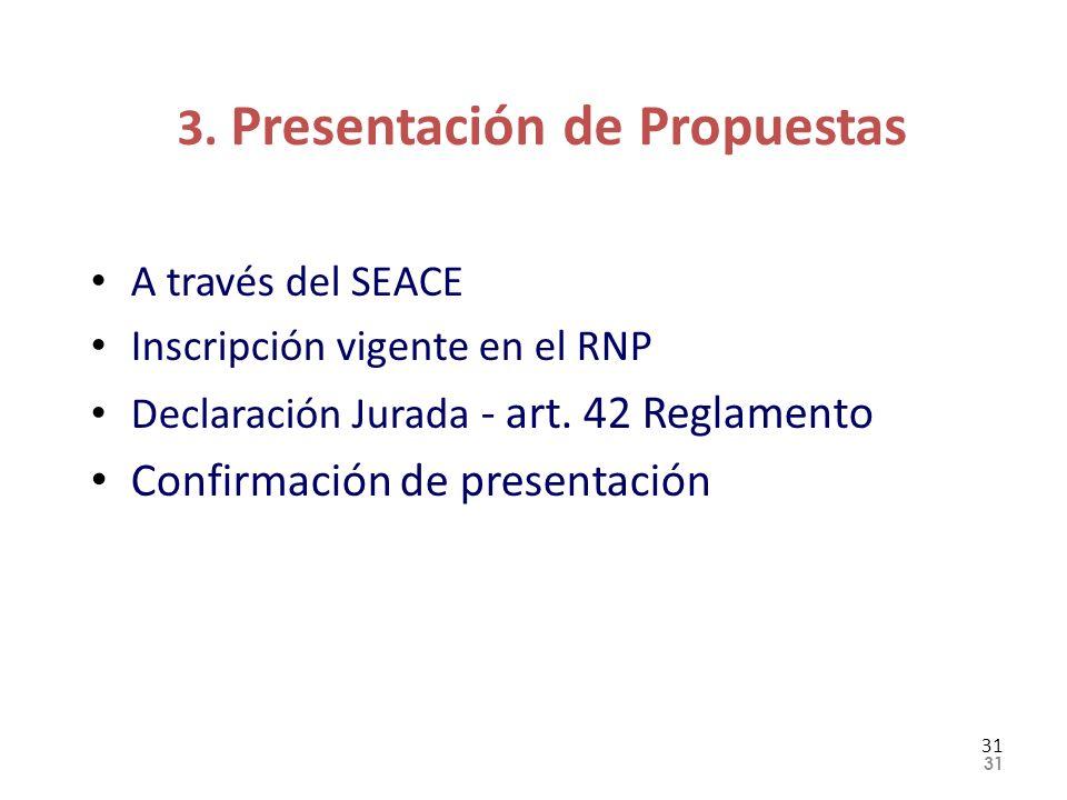3. Presentación de Propuestas