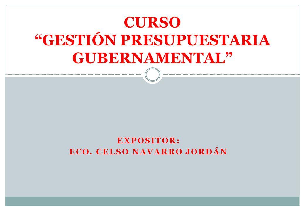 CURSO GESTIÓN PRESUPUESTARIA GUBERNAMENTAL