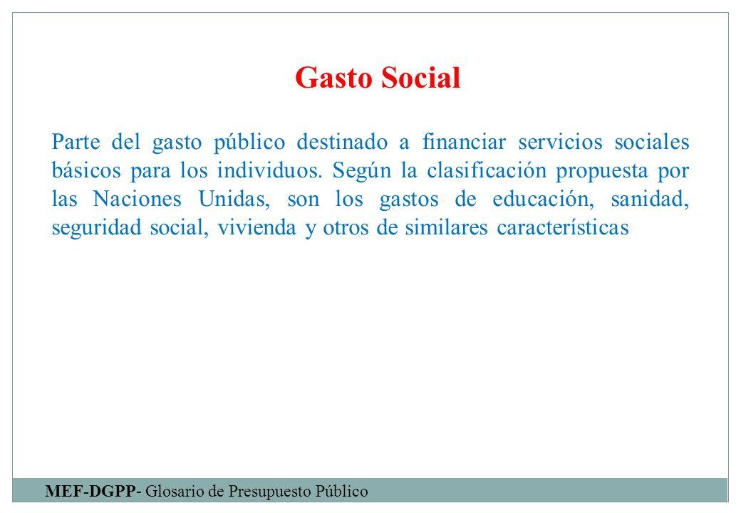 Gasto Social