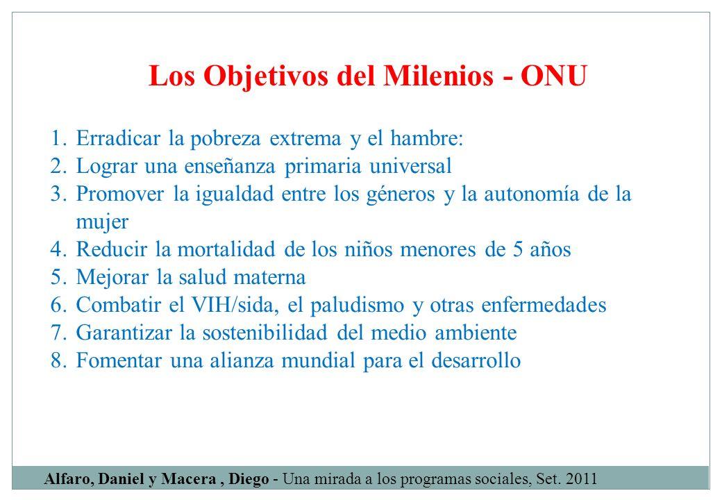 Los Objetivos del Milenios - ONU
