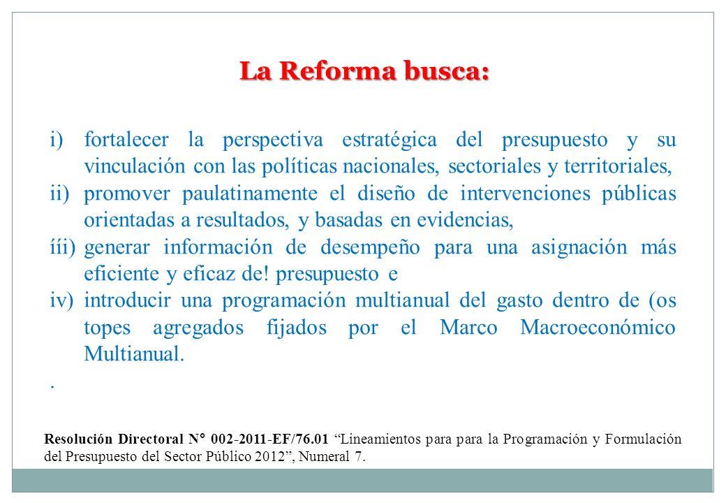 La Reforma busca: