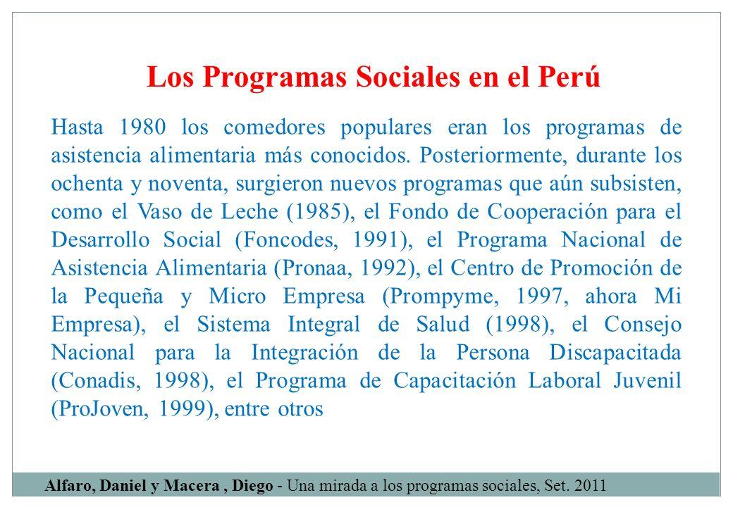 Los Programas Sociales en el Perú