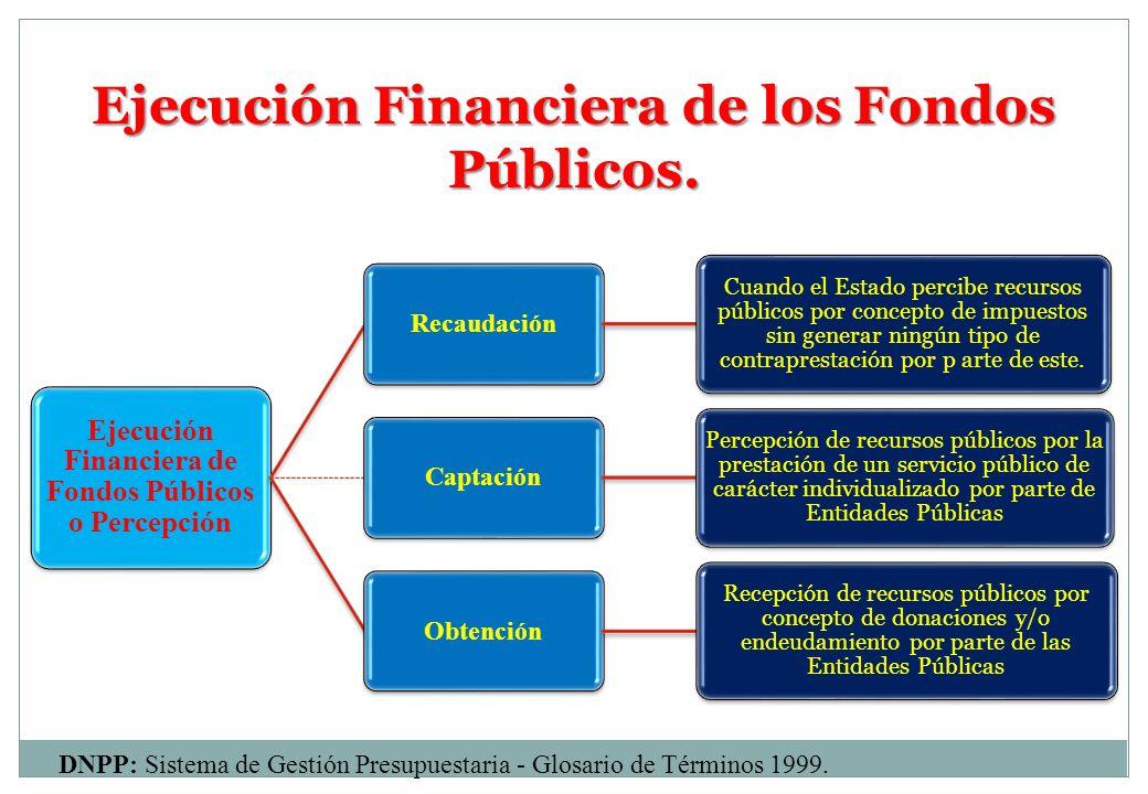 Ejecución Financiera de los Fondos Públicos.