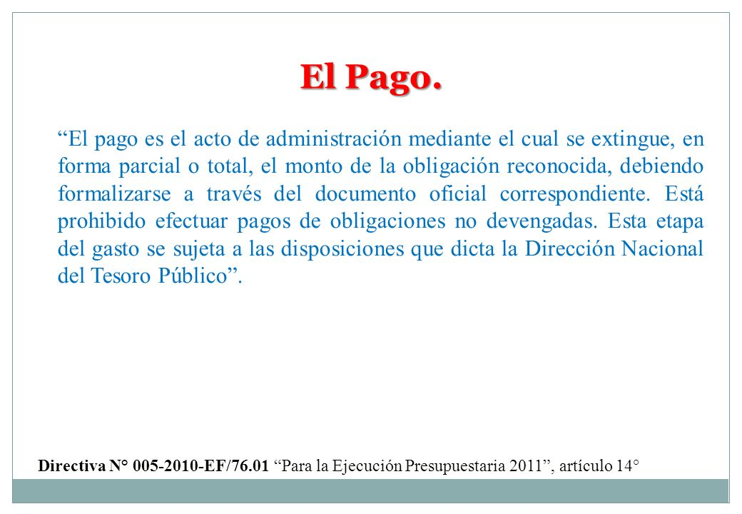 El Pago.