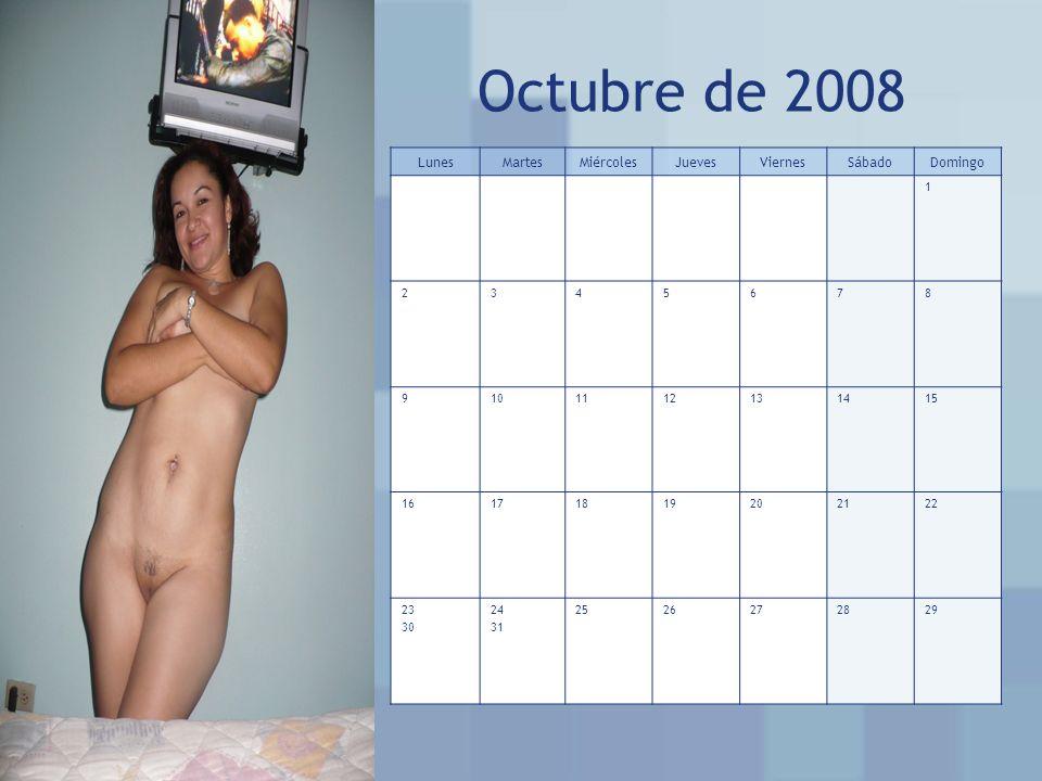 Octubre de 2008 Lunes Martes Miércoles Jueves Viernes Sábado Domingo 1