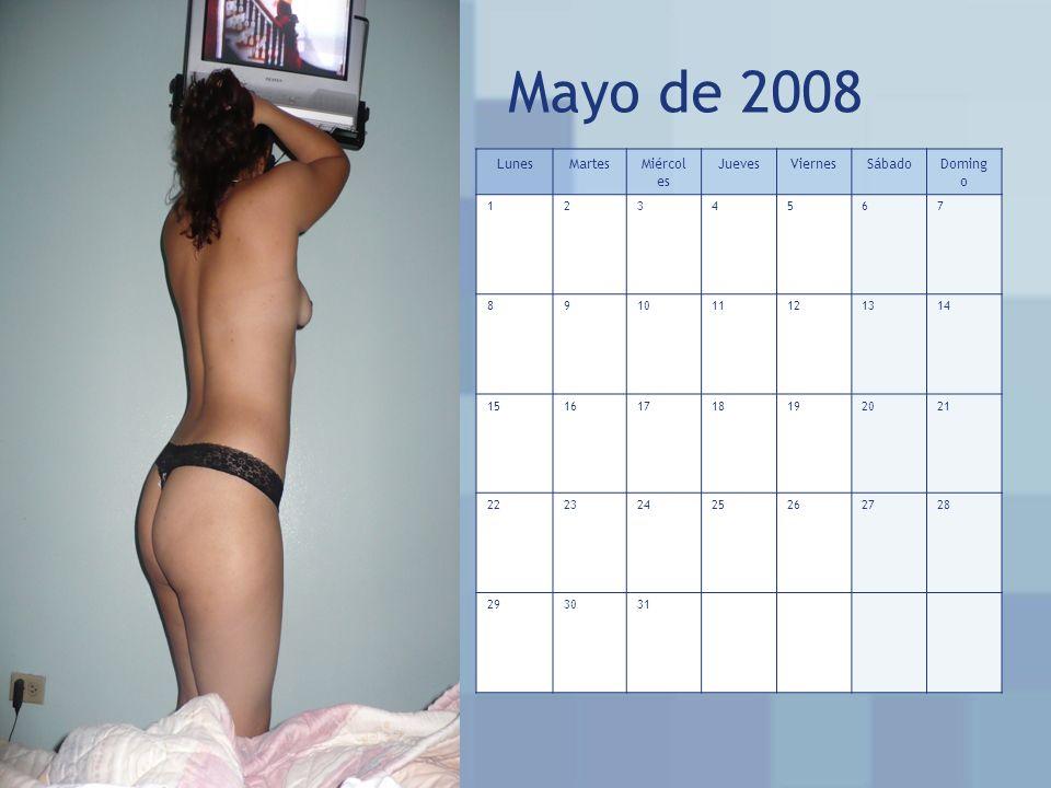 Mayo de 2008 Lunes Martes Miércoles Jueves Viernes Sábado Domingo 1 2