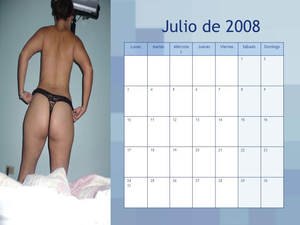 Julio de 2008 Lunes Martes Miércoles Jueves Viernes Sábado Domingo 1 2