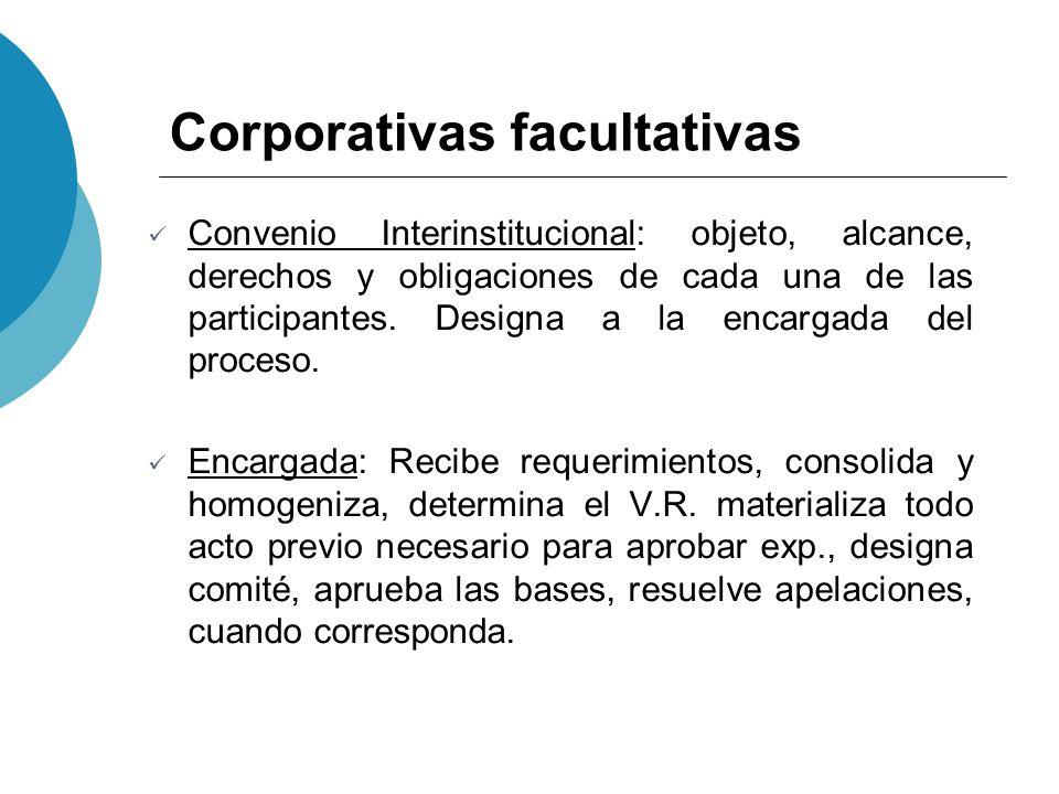 Corporativas facultativas