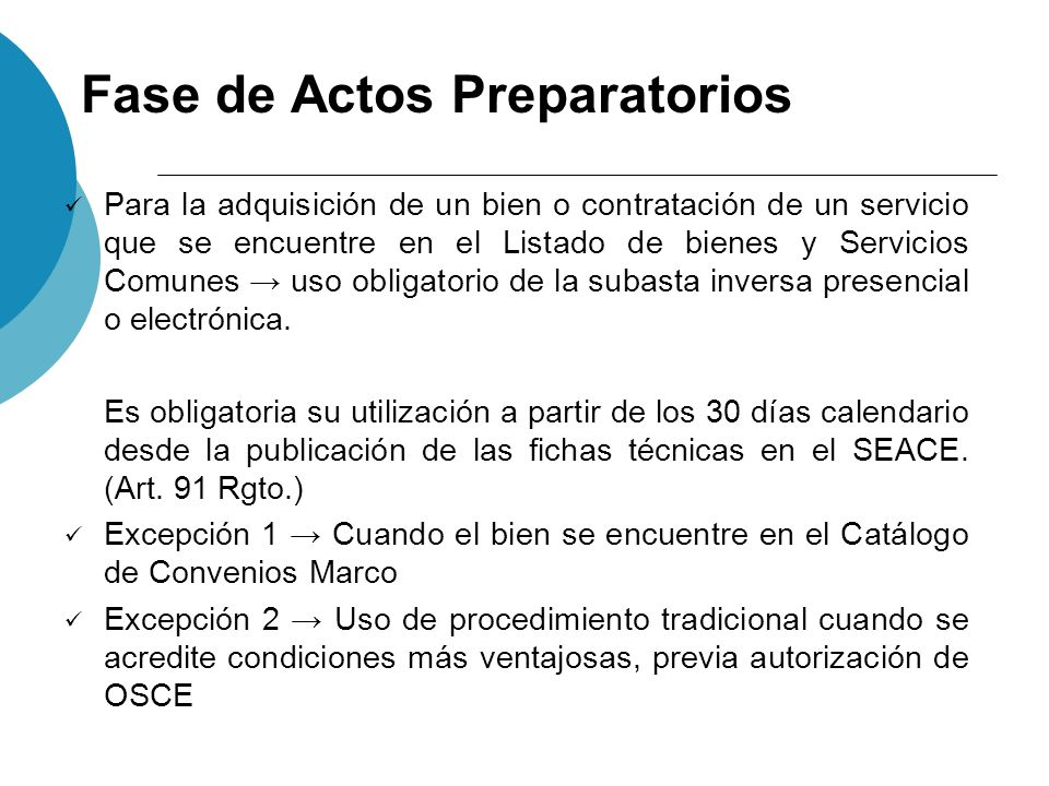 Fase de Actos Preparatorios