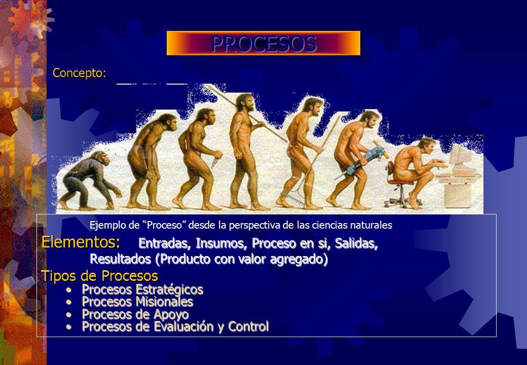 PROCESOS Concepto: Ejemplo de Proceso desde la perspectiva de las ciencias naturales.