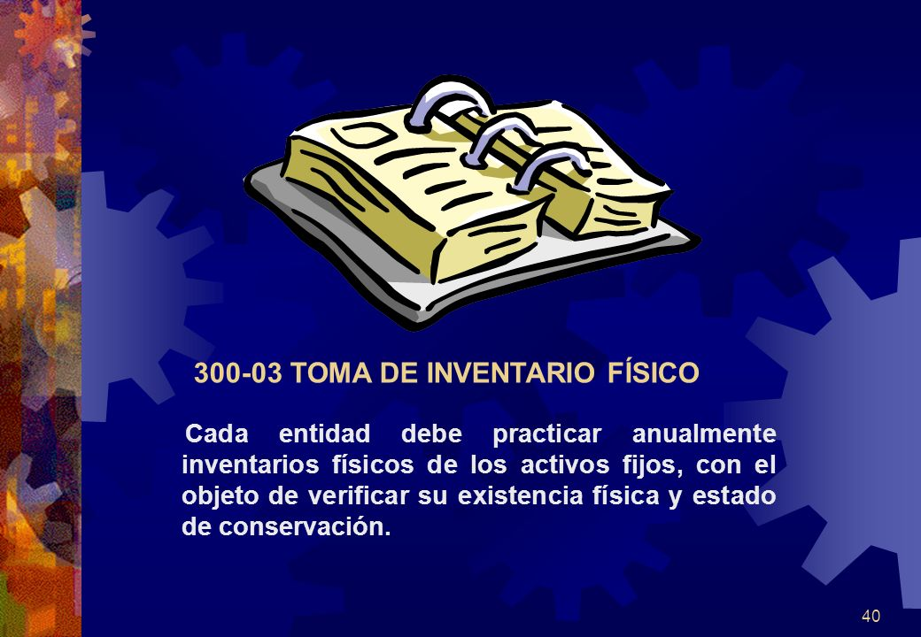 300-03 TOMA DE INVENTARIO FÍSICO