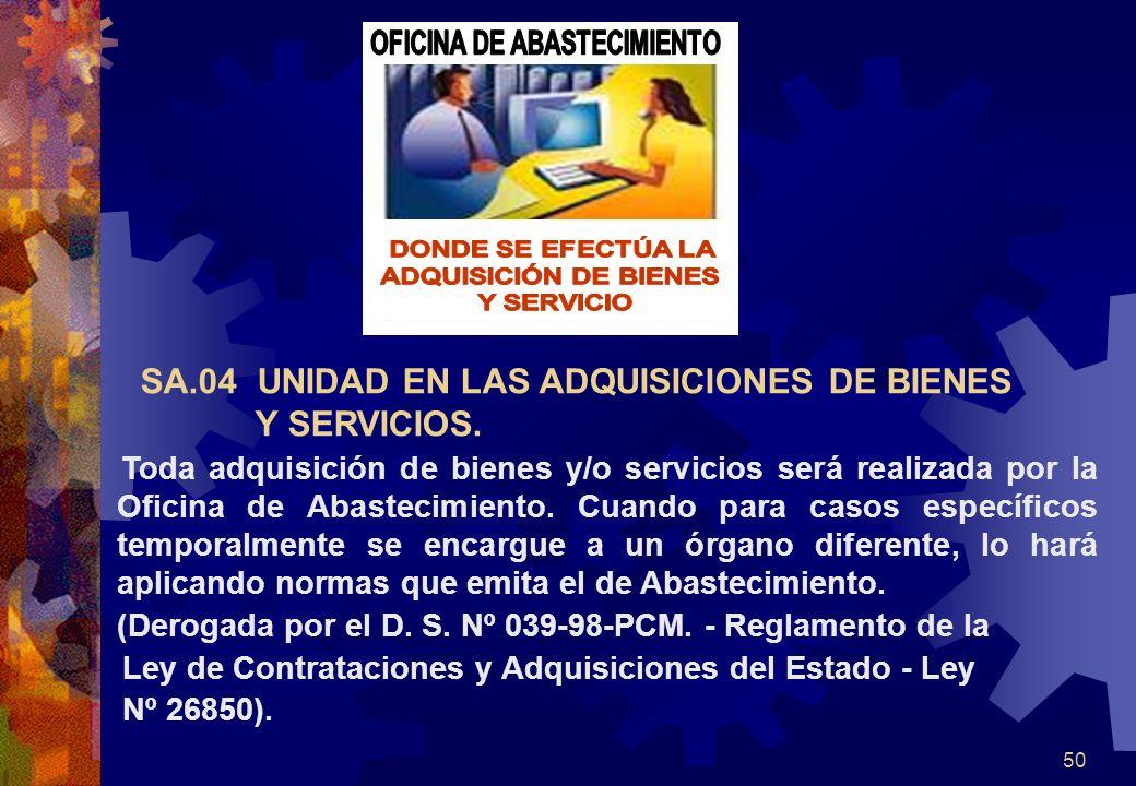 OFICINA DE ABASTECIMIENTO