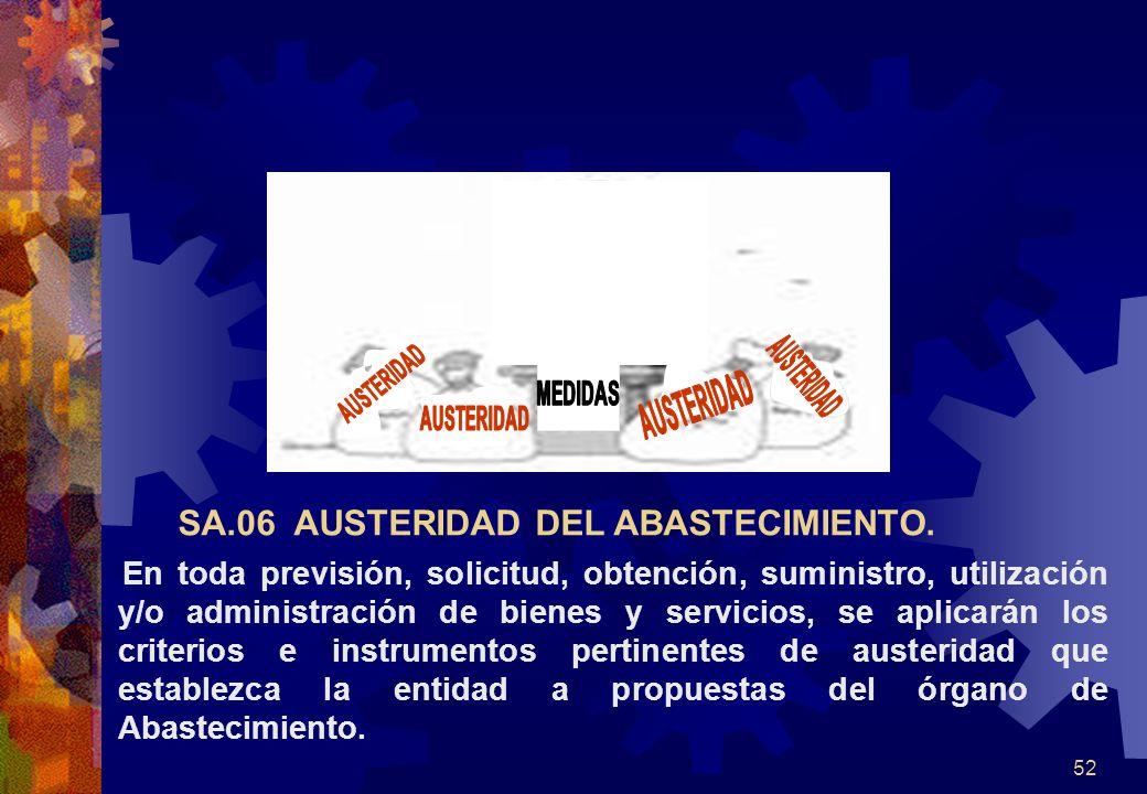 SA.06 AUSTERIDAD DEL ABASTECIMIENTO.