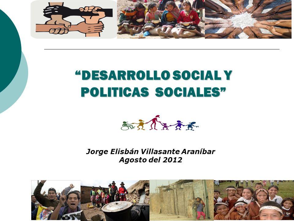 DESARROLLO SOCIAL Y POLITICAS SOCIALES
