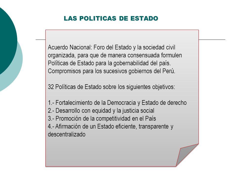 LAS POLITICAS DE ESTADO