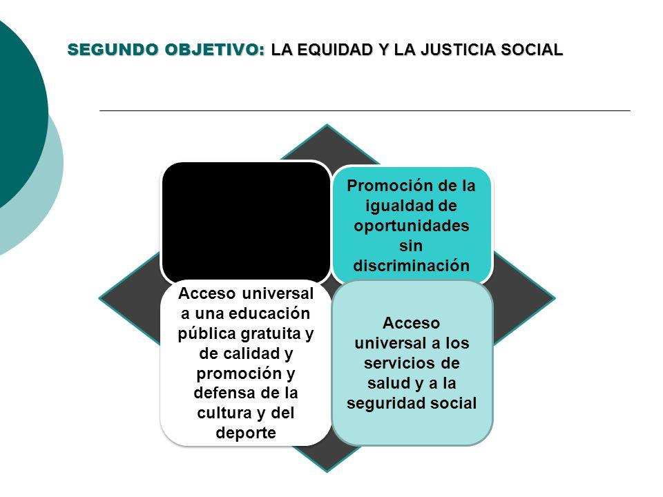 SEGUNDO OBJETIVO: LA EQUIDAD Y LA JUSTICIA SOCIAL