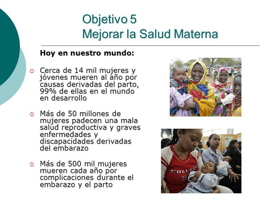 Objetivo 5 Mejorar la Salud Materna