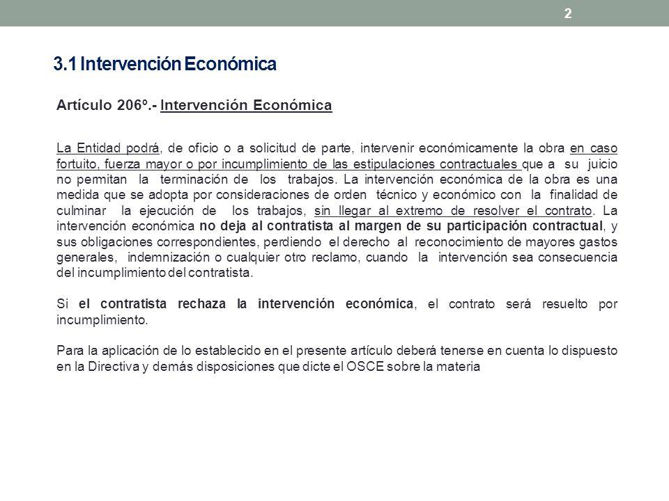 3.1 Intervención Económica