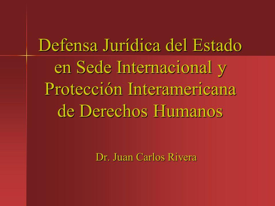 Defensa Jurídica del Estado en Sede Internacional y Protección Interamericana de Derechos Humanos