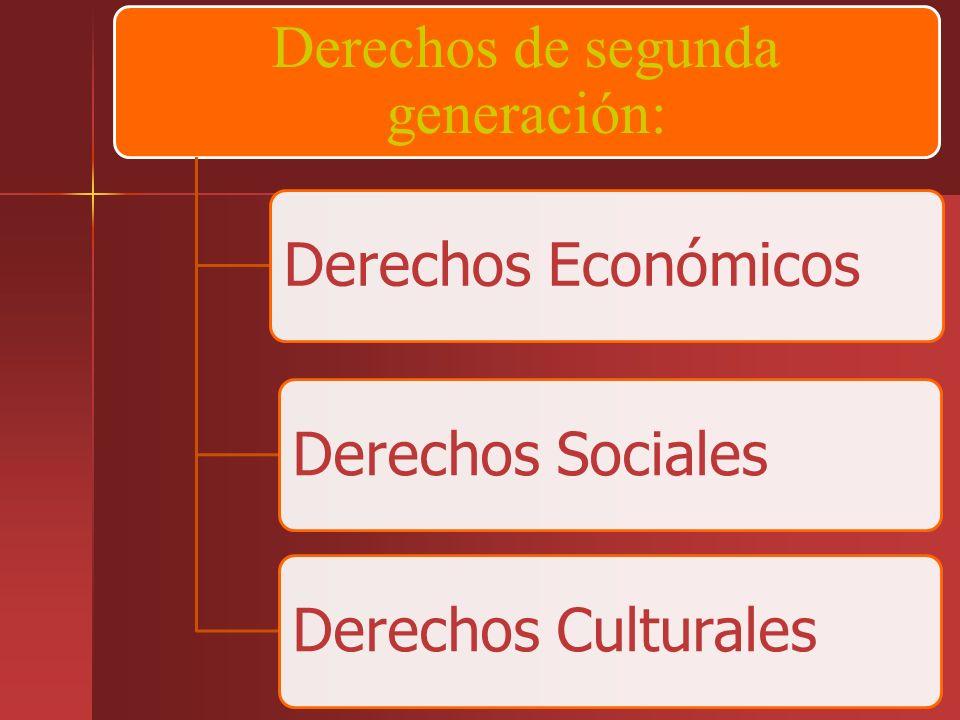 Derechos de segunda generación: