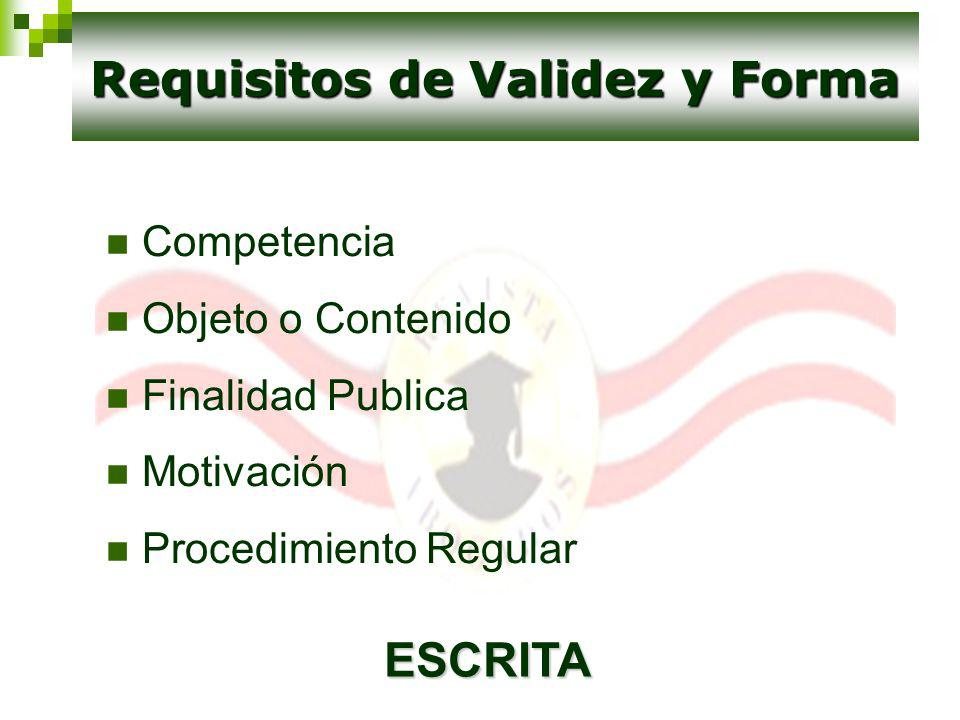 Requisitos de Validez y Forma