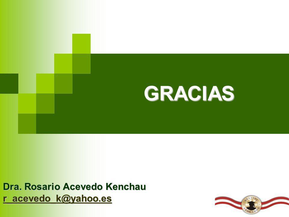Dra. Rosario Acevedo Kenchau r_acevedo_k@yahoo.es