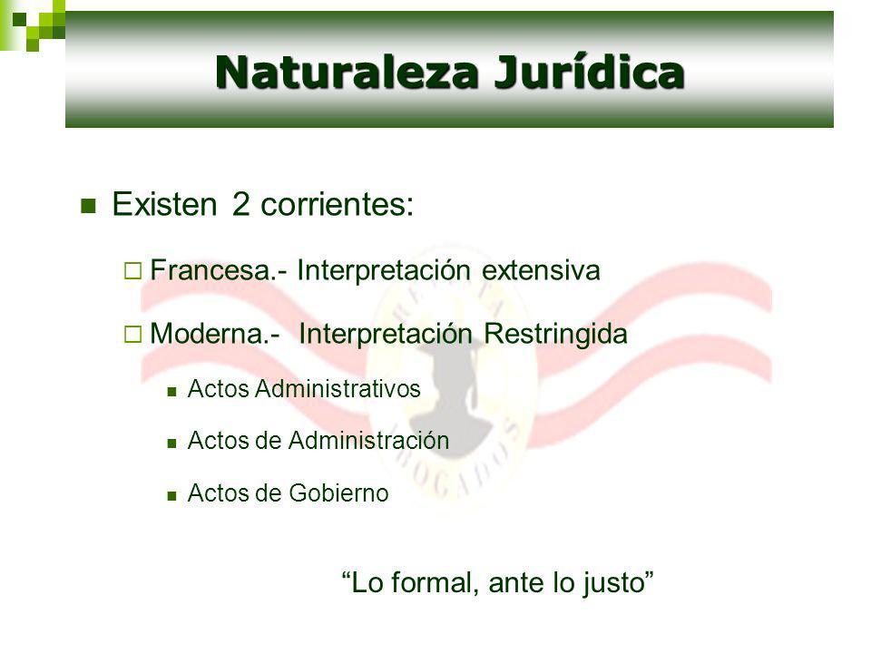 Naturaleza Jurídica Existen 2 corrientes:
