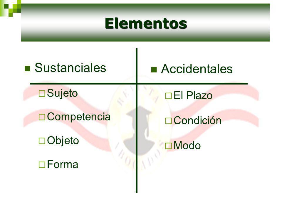Elementos Sustanciales Accidentales Sujeto El Plazo Competencia