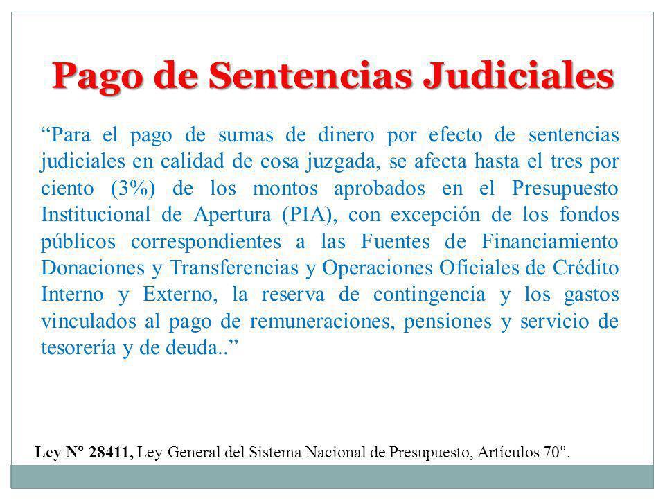 Pago de Sentencias Judiciales