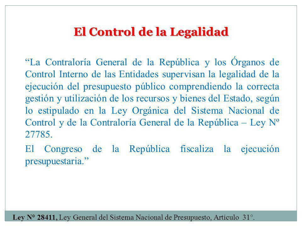 El Control de la Legalidad