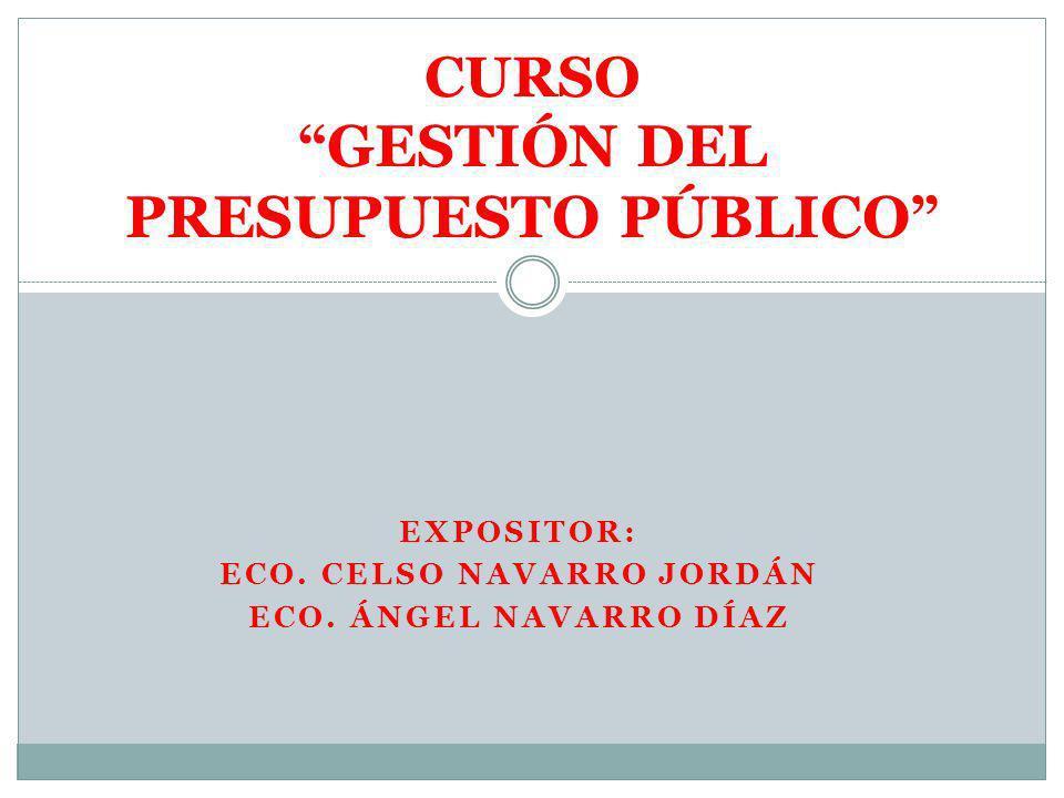 CURSO GESTIÓN DEL PRESUPUESTO PÚBLICO