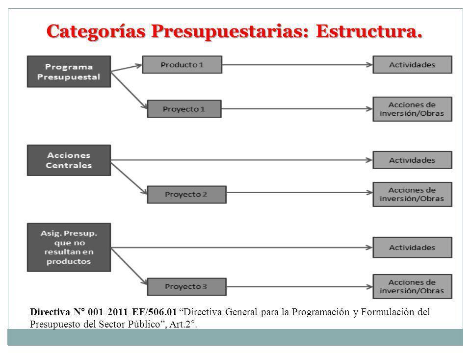 Categorías Presupuestarias: Estructura.