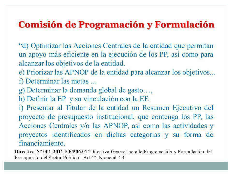 Comisión de Programación y Formulación
