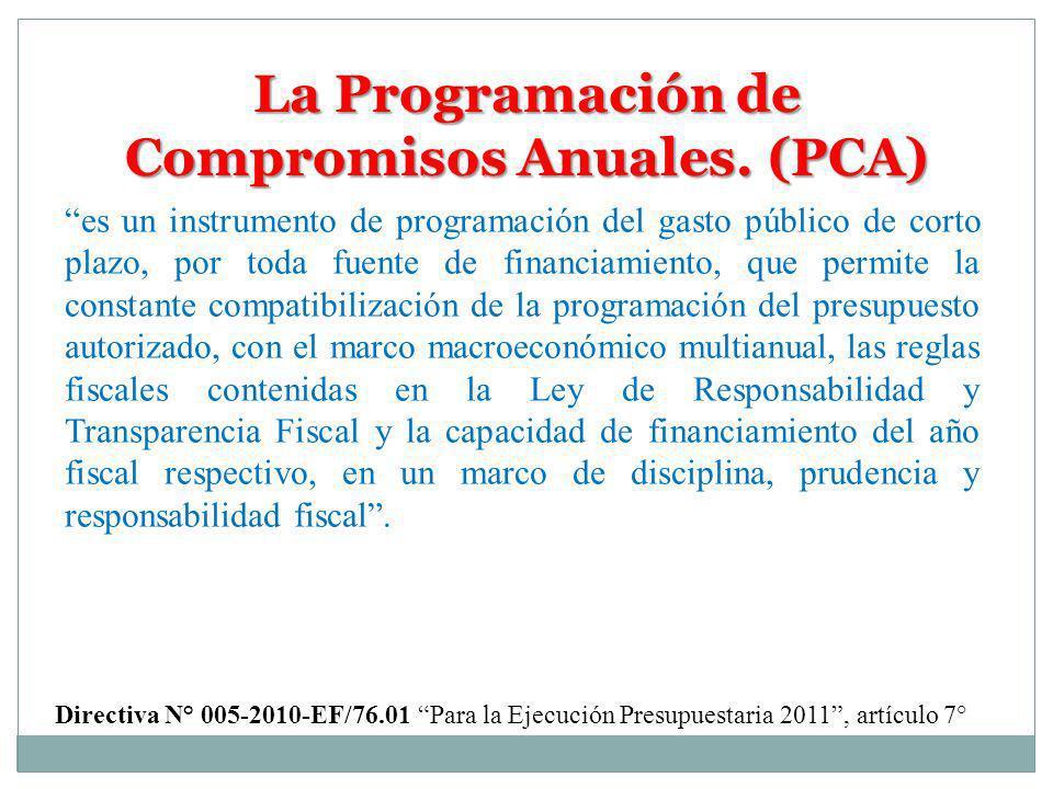 La Programación de Compromisos Anuales. (PCA)
