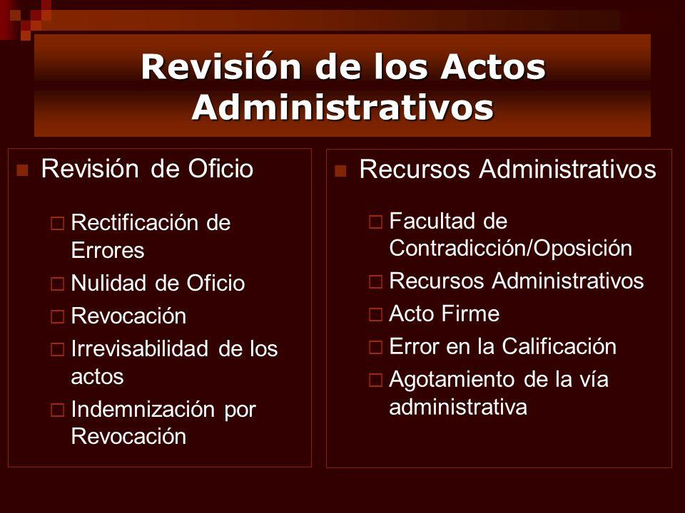 Revisión de los Actos Administrativos