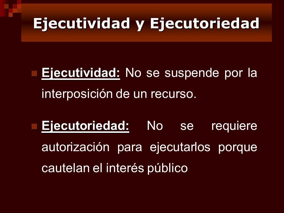 Ejecutividad y Ejecutoriedad