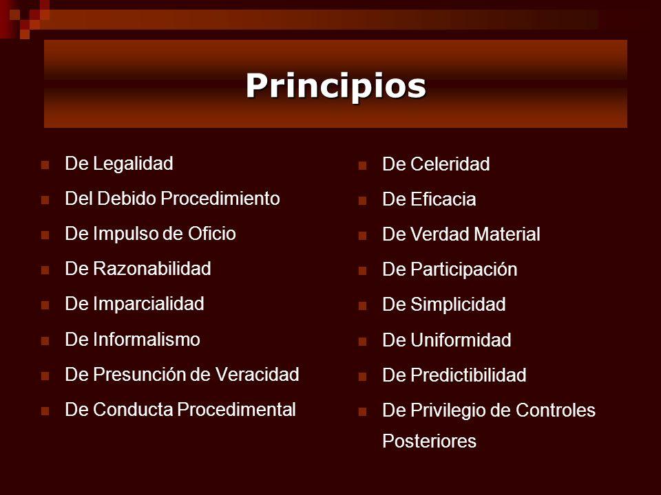 Principios De Legalidad De Celeridad Del Debido Procedimiento
