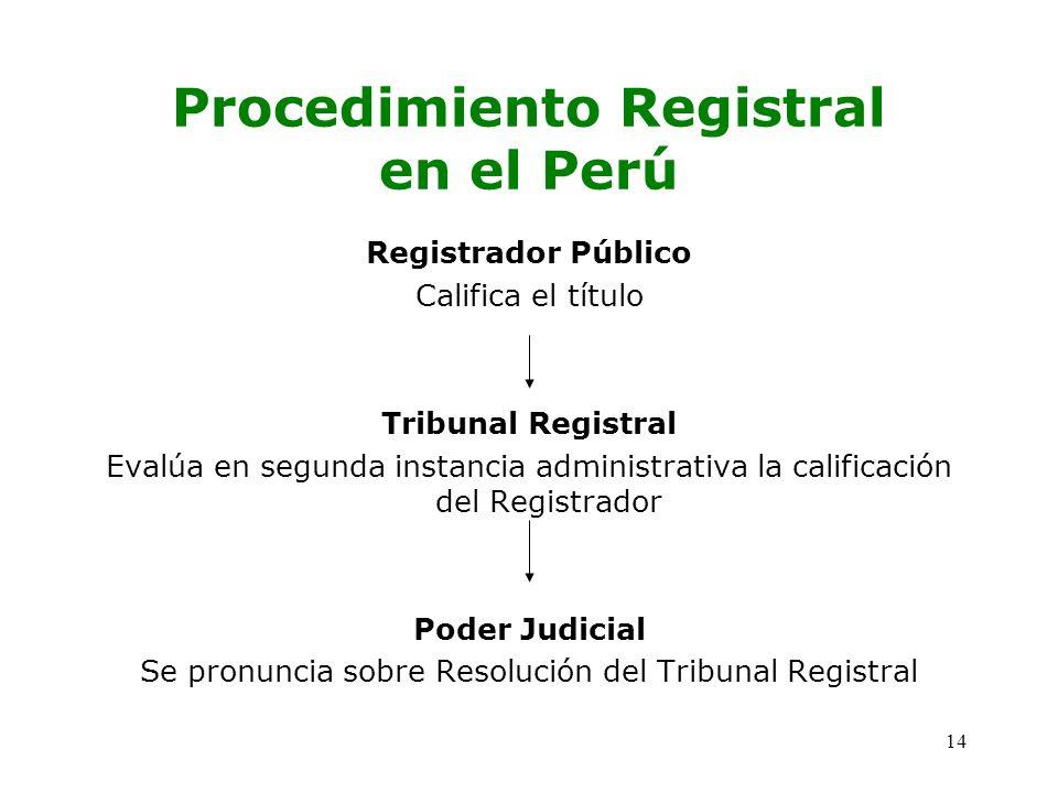 Procedimiento Registral en el Perú