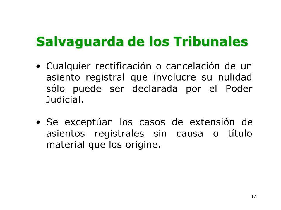 Salvaguarda de los Tribunales