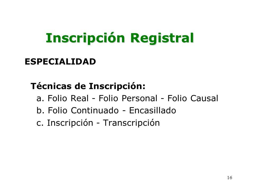 Inscripción Registral