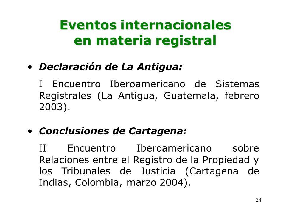 Eventos internacionales en materia registral