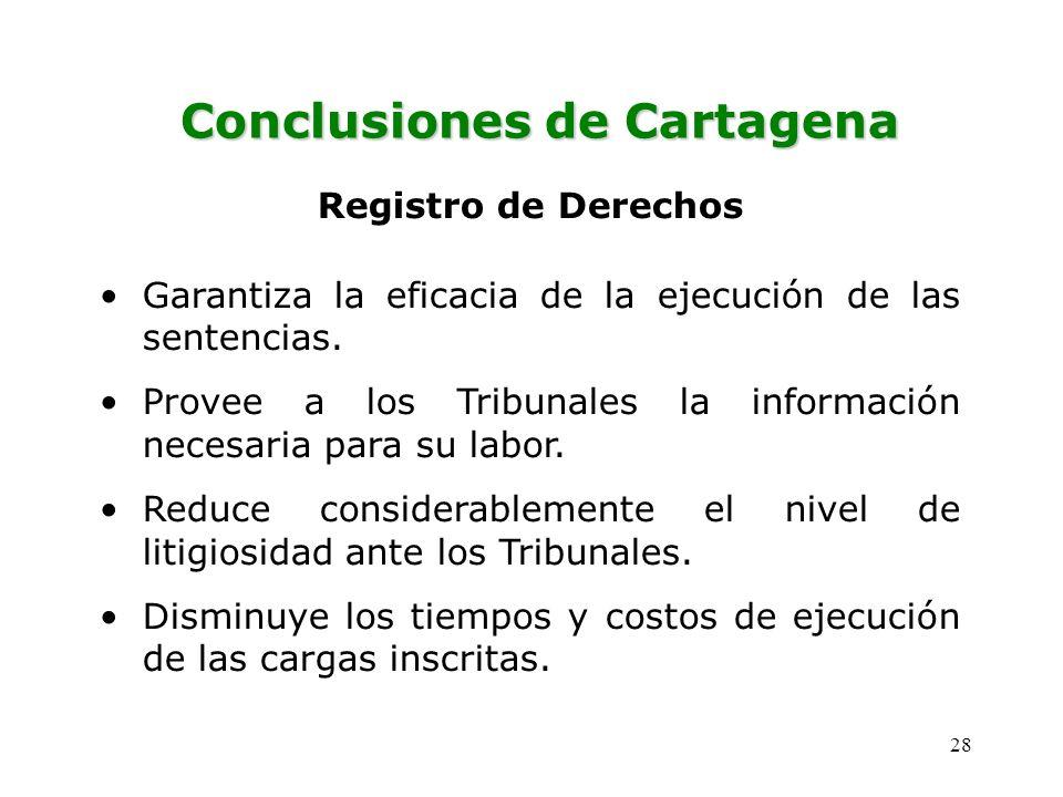 Conclusiones de Cartagena
