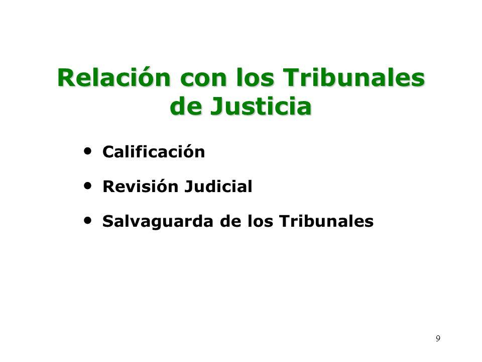 Relación con los Tribunales de Justicia