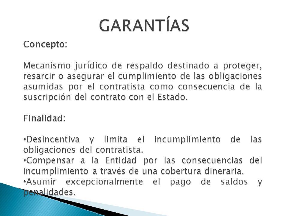 GARANTÍAS Concepto: