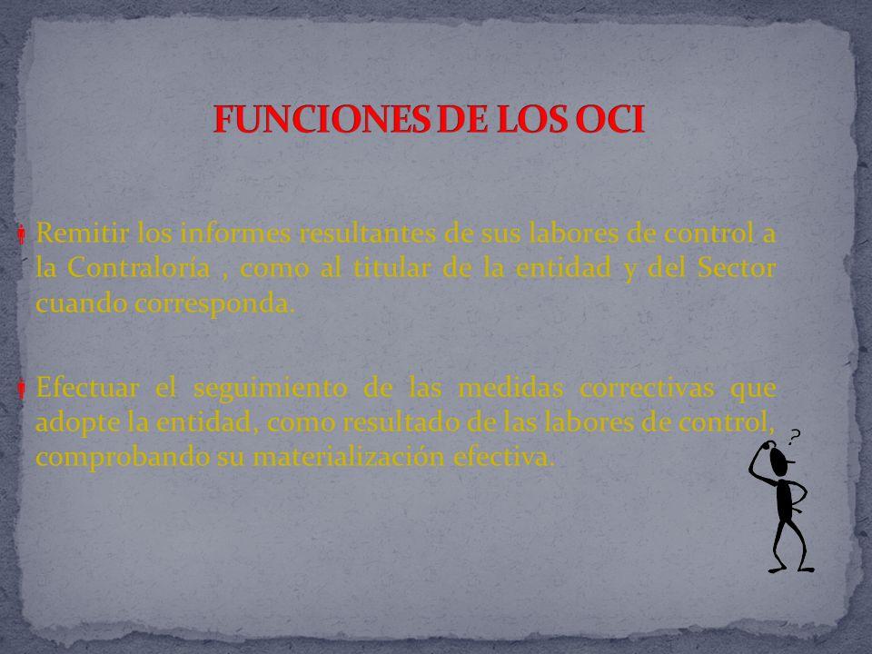 FUNCIONES DE LOS OCI