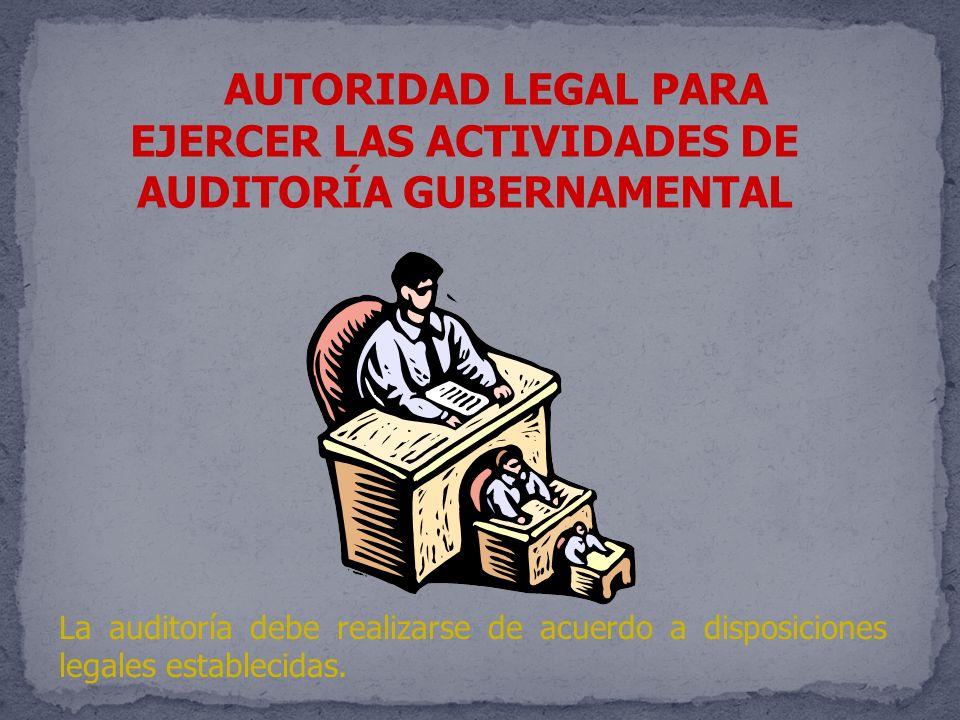 EJERCER LAS ACTIVIDADES DE AUDITORÍA GUBERNAMENTAL