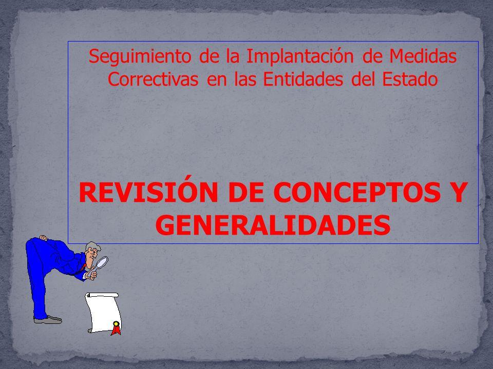 REVISIÓN DE CONCEPTOS Y GENERALIDADES