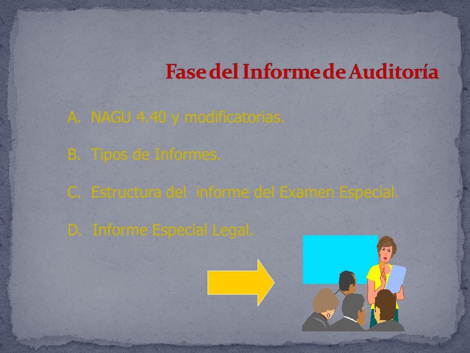 Fase del Informe de Auditoría